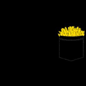 Pommes in der Brusttasche - Fritten Fries