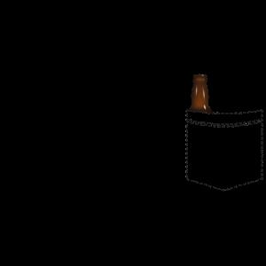 Bier in der Brusttasche - Bierflasche Tasche