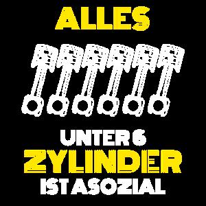 6 Zylinder Motor Shirt