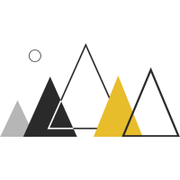 triangle mountains - simple style
