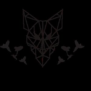 Geometrische / geometric Tiere - Fuchs