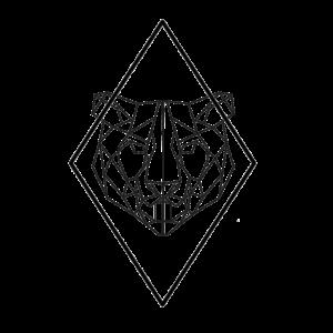 Geometisch / geometric Tiger mit Diamant