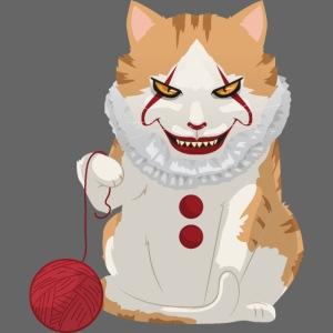 Gruselige Halloween Horror Katze Clown
