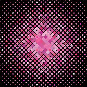 Quadratisches Design in Rosa Tönen