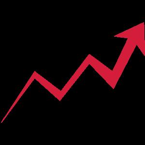 Aufwärtstrend Chart Wachstum