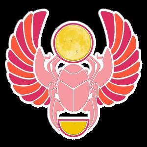 Glücksbringer Skarabäus - bunter Glückskäfer