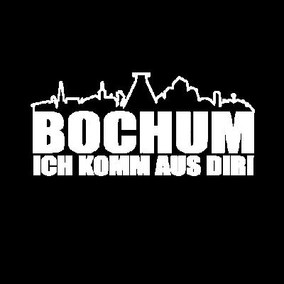 Bochum ich komm aus dir mit Skyline - Tolles Bochum Ich komm aus dir mit Skyline. Meine Stadt Bochum - Fetziges T-Shirt mit coolem Design zu deiner Stadt! Damit setzt du ein Statement. - Geschenkidee,Bochum Stadt,Bochum Deutschland,Bochum Fan,Bochum ich komm aus dir,Geschenk,Bochum
