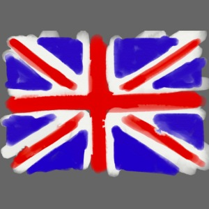 British flag in watercolours