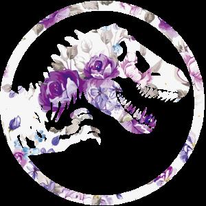 Dinosaurier mit Blumen