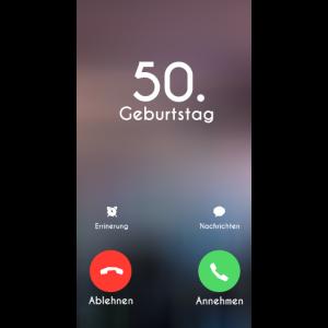 50. Geburtstag Phone Call Anruf