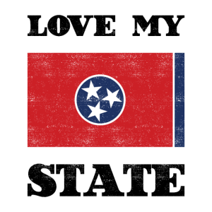 Love my state - Tennessee State Flag T Shirt