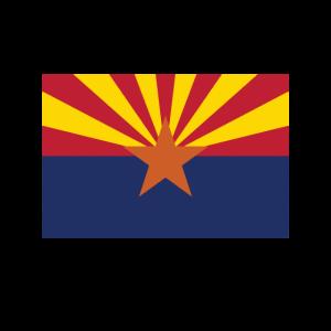 Love my state - Arizona State Flag T Shirt