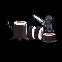 Sushi Ninja mit Kettensäge