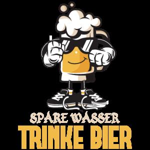 Spare Wasser Trinke Lustige Bier Wiesn T-Shirt