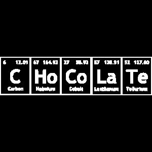 Chocolate- Schokolade Periodensystem weiß