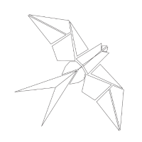 Vogel Schwalbe Origami Geschenk