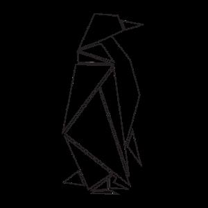 Pinguin minimalistisch Origami Geschenk