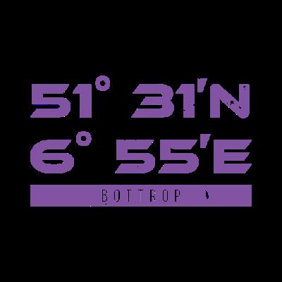Bottrop Koordinaten 5131N 655E - Ein tolles Design mit Bottrop Koordinaten. 5131N 655E. - Koordinaten,Bottrop,5131N655E,Ruhrpott