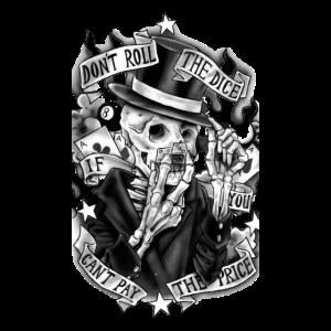 Skelett mit Karten