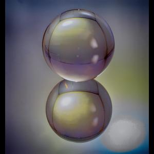 Spiegelung Glaskugel