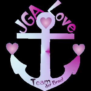 JGA Shirt - Team der Braut - Anker