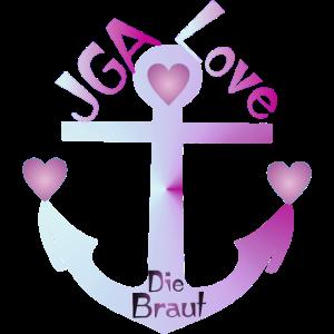 JGA Shirt Die Braut - Anker