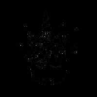 Verträumtes Einhorn - Schwarz