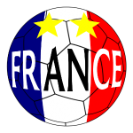 ballon de football, drapeau, France, 2 étoiles