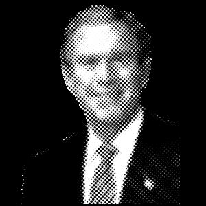 Pixelated Berühmtheiten Bush Präsident USA Amerika