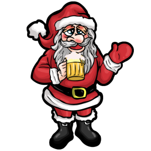 Weihnachtsmann Bier Xmas Lustig Nikolaus