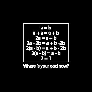Wo ist dein Gott jetzt Mathe-Version?
