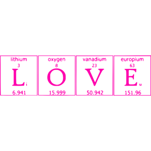 LOVE- Liebe Periodensystem pink