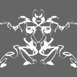 "Rorschach test of a Shaolin figure ""Tigerstyle"""