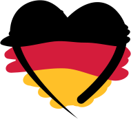Fan-Shirt: Deutschland Herz