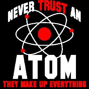 Atom Chemie Physik Atomphysik Spruch Geschenk cool