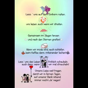 Poster Wandbild Liebe Text, Love, Liebespaar