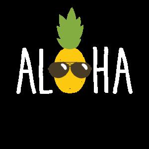 Ananas Frucht Aloha Strand - Hawaii Shirt Geschenk