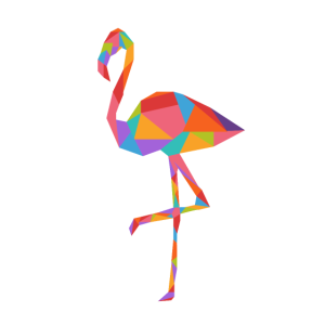 Bunter Flamingo Geschenkidee