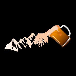 Berg & Bier - Alkohol, Alpen, Klettern, Geschenk