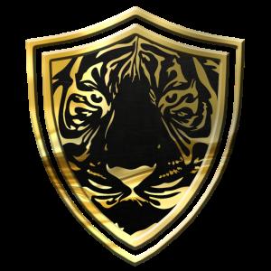 Goldenes Tiger Wappen