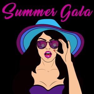 Sommer Gala Frau Model Hut Sonnebrille