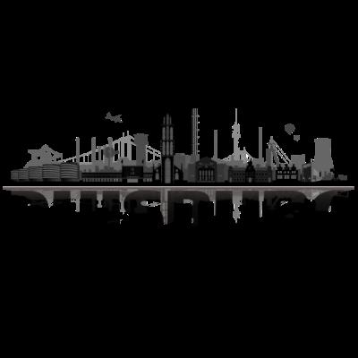 duisburg_city_dunkel detail - Duisburg City Skyline für Duisburg Lieghaber. - westfahlen,urban,stadt,skyline,ruhrort,rheinhausen,kultur,homberg,hamborn,design,cool,city,baerl,architektur,Wesel,Ruhrpott,Ruhr,Region,Meiderich,Illustration,Duisburger,Duisburg,Beeck