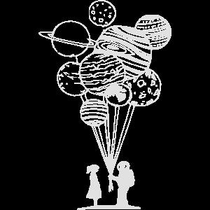astronaut luftballons maedchen geschenk