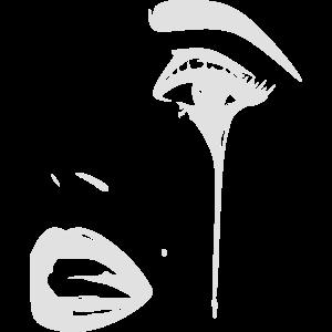 Trauriges Gesicht mit Träne