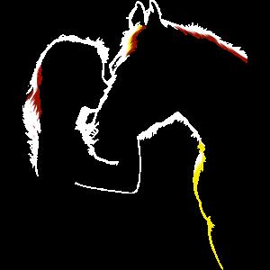 Pferd Mädchen Silhouette