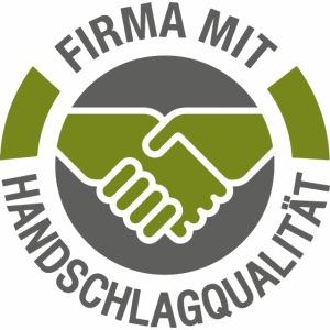 Handschlagqualität Logo grau