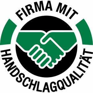 Handschlagqualität Logo schwarz