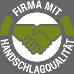 Handschlagqualität Logo weiss