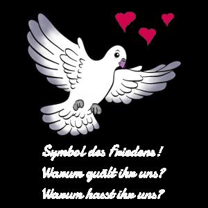 Die Taube das Symbol des Friedens
