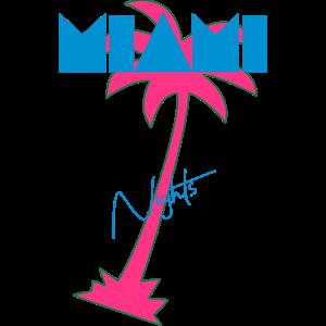 Miami Retro Palme 80er